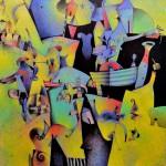 """Alberto Flores El Viaje acrilico sobre tela140x140cm 150x150 - """"El viaje"""" de Alberto Flores"""