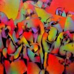 """Alberto Flores Otro Mundo acrilico sobre tela 200x150cm 150x150 - """"El viaje"""" de Alberto Flores"""