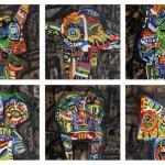 """Marcos Palacios CABEZAS oleo sobre tela 100 x 150 cm 700 cu inc igv 150x150 - """"Cyborg"""" de Marcos Palacios"""
