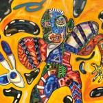 "Marcos Palacios CYBORG óleo sobre tela 140 x 170 cm 4250inc igv 150x150 - ""Cyborg"" de Marcos Palacios"
