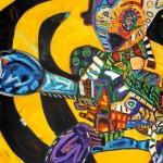 "Marcos Palacios SENTINEL óleo sobre tela 140 x 210 cm 4500inc igv 150x150 - ""Cyborg"" de Marcos Palacios"