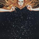 Constelación I - óleo y tecnica mixta sobre tela, 83 x 64 cm.