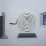 El Misterio del Origen - Acrílico y collage sobre cartón, 60 x 80 cm. 2016