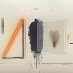 El Vuelo - Acrílico, óleo y collage sobre papel, 50 x 70 cm. 2016