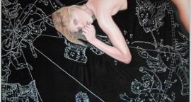 El día - óleo y tecnica mixta sobre tela, 150 x 150 cm.