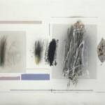 Hojas de Invierno - Óleo, acrílico y collage sobre papel, 56 x 76 cm. 2016