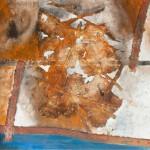 FLUX II - mixta y óleo sobre tela, 100 x 100 cm.