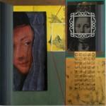 Serie Kataphracktós I - acrilico y tenica mixta sobre mdf, 40.5 x 40.5 cm.
