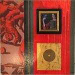 Serie Kataphracktós VI - acrilico y tenica mixta sobre mdf, 40.5 x 40.5 cm.