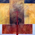 """5 Patricia Eyzaguirre Sin título Óleo sobre lienzo 150x150 cm 150x150 - """"Pinturas y Dibujos"""" de Patricia Eyzaguirre"""