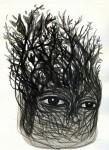 A veces es un arbusto - tinta china sobre papel, 28 x 21 cm