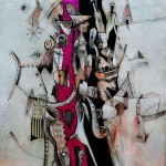 Imaginario I - acrílico sobre lienzo, 50 x 50 cm.