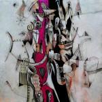 Alberto Flores Imaginario I 50x50cm acr+¡lico sobre lienzo1200 150x150 - Alberto Flores