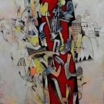 Imaginario III - acrílico sobre lienzo, 50 x 50 cm.