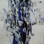 Imaginario II - acrílico sobre lienzo, 50 x 50 cm.