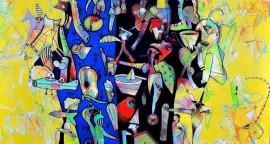 Nomade - acrílico sobre lienzo, 160 x 140 cm.