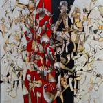 Tribal - acrílico sobre lienzo, 140 x 140 cm.