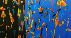S/T 1 - acrílico sobre lienzo, 90 x 90 cm