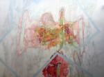 Fardo - lápiz sobre lámina de papel vegetal, 110 x 150 cm.