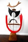 Sin título I - MDF laqueado, madera, acero inoxidable y fierro galvanizado 36 x 36 x 67 cm.