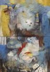 Nueve - acrílico sobre lienzo, 260 x 150 cm.
