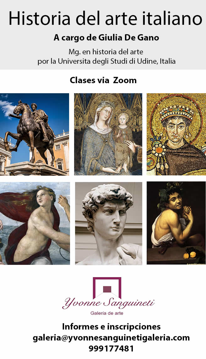 Clases de historia del arte Italiano - Clases de Arte Italiano y Escultura Contemporánea