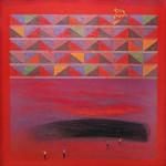 Eduardo Cochachin Horizonte infinito 2018tecnica mixta oleo y lapiz sobre tela 81x 81 cm 1300 inc igv1 150x150 - Nader Barhumi – Primera Colección