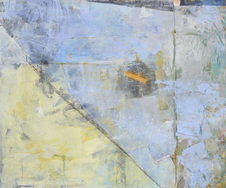 St IV - acrílico y collage sobre tela, 100 x 120 cm.