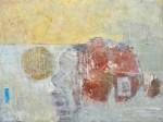 St I - acrílico y collage sobre tela, 90 x 120 cm.