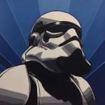 """Elías Alayza Prager Stormtrooper óleo sobre lienzo 50x50cm 150x150 -  """"Retrato Pop"""" Exposición colectiva"""
