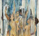 "Elke Mc Donald ""Felicidad"" collage 110 x 122 cm."