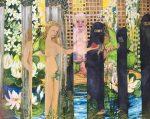 """Elke Mc Donald """"Integración"""" collage 120 x 148 cm."""