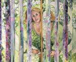 """Elke Mcdonald """"Inspiración"""" collage 120 x 160 cm."""
