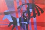 Huncor II, oleo sobre madera prensada tratada, 60 x 90 cm