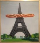 Souvenir de France, óleo sobre trupán, 85 x 80 cm. 2018