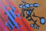 Cochineros, oleo sobre madera prensada tratada, 60 x 90 cm