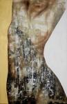 Desnudos # 102 - técnica mixta sobre tela, 140 x 95 cm.