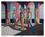 Las Bañistas II, técnica mixta sobre tela, 200 x 250 cm.