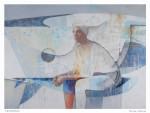 Ligth Blue - técnica mixta sobre tela, 190 x 260 cm.