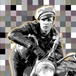 """Jaime Higa Marlon Brando acrílico sobre tela 120x120cm 5310 inc igv 150x150 -  """"Retrato Pop"""" Exposición colectiva"""