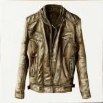 """""""Jacket 2"""" óleo sobre lienzo 30 x 30 cm."""