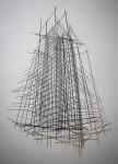 Jesús Cataño, Estructuras, hierro y soldadura, 95 x 75 cm.