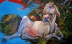 Amaltea - óleo sobre tela, 90 x 150 cm.