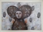 Frontal - Acrílico sobre papel, 50 x 70 cm.