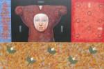 Memoria Floral - acrílico sobre lienzo, 120 x 180 cm.