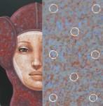 Rostro Segmentado - acrílico sobre lienzo, 120 x 120 cm.