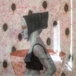 Joseph Firbas - Sin titulo. De la serie Elementos Flotantes, acrílico sobre papel de algodón 66.5 x 66.5 cm.