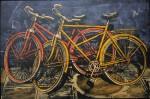 Bicicletas - serigrafía, 63 x 93 cm.