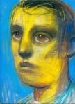 Luis Castellanos Ausente I tiza pastel sobre papel 32x24cm 363inc igv 108x150 - Nader Barhumi – Primera Colección