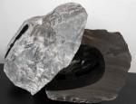 Encuentro - Alabastro esculpido, 82 x 55 x 56 cm.